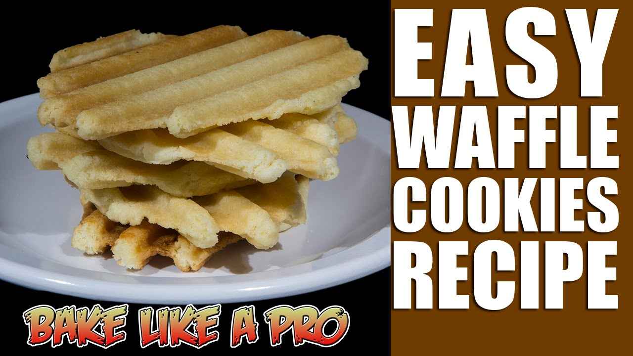 Butter waffle cookies recipe