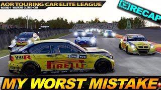 MY WORST MISTAKE! AOR Touring Cars Elite League - Round 1 - Watkins Glen