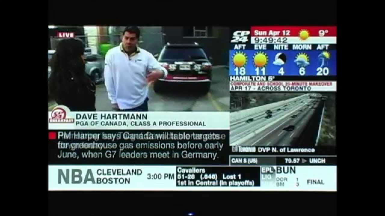 CP24 Breakfast Masters Sunday 2015 - YouTube