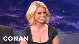 Alice Eve On Her Beautifully Mismatched Eyes - CONAN on TBS