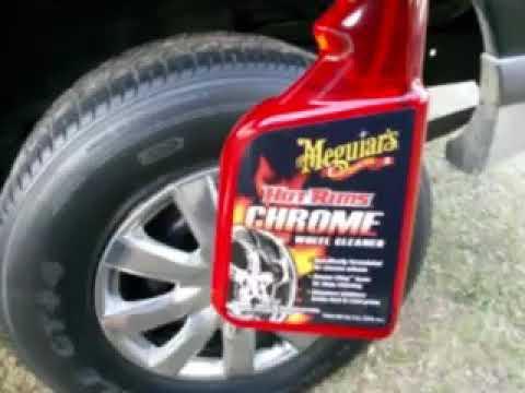 Meguiar's hot rims chrome wheel cleaner test review