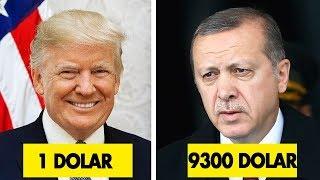 Dünya Liderlerin Aylık Maaşı Ne Kadar ?  1 Dolar'dan 2 Milyon Dolara Değişen Rakamlar