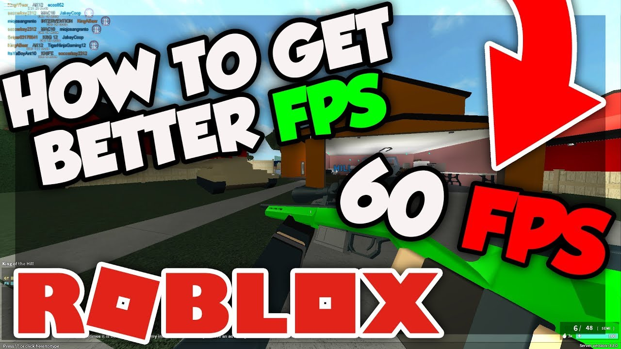 Get Better Fps In Roblox No Lag 20172018 Youtube
