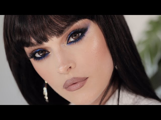 Blue Spice - Blue eye make-up perfect for brown eyes