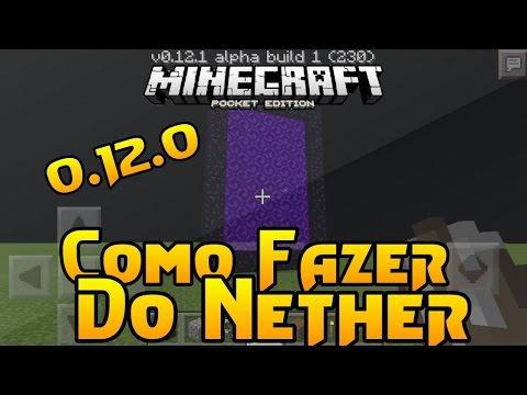 Minecraft PE 0.12.0 Como Fazer Portal Para O Nether / How To The Nether Portal (MCPE 0.12)