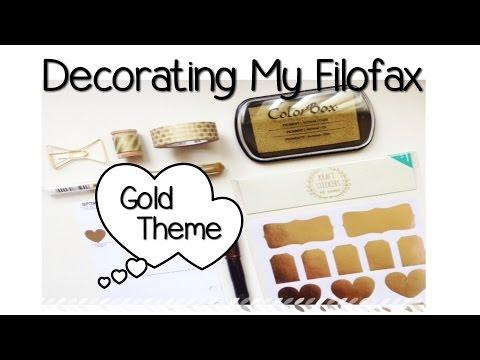Decorating My Filofax - Gold Theme