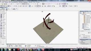 Архикад 18 инструмент морф, создание модели ветрогенератора вертикальной оси вращения