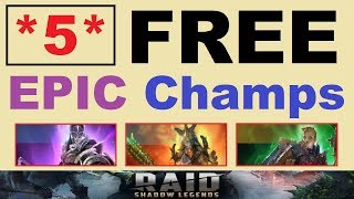*5* FREE ~EPICS~ & HOW GOOD They Are in ~RAID Shadow Legends~