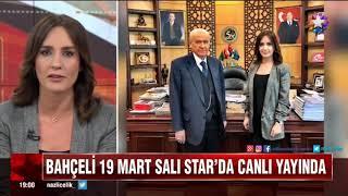 Liderimiz Devlet Bahçeli 19 Mart Salı günü saat 2200'de Star TV- NTV ortak yayınında