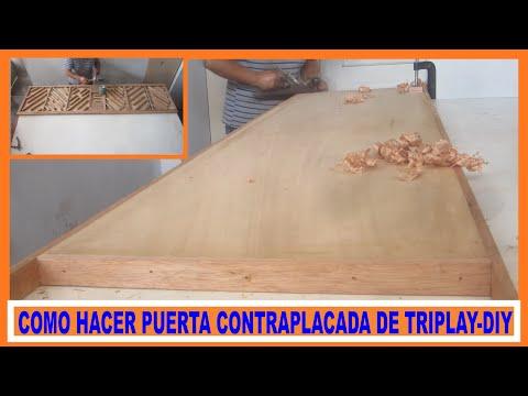 Video como construir una puerta de triplay contraplacada for Como hacer un marco de puerta de madera