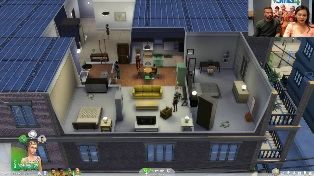 les sims 4 vie citadine broadcast 23 septembre 2016 youtube. Black Bedroom Furniture Sets. Home Design Ideas