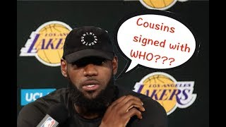 "NBA Players' ""Live Reaction of Big News"" Compilation"