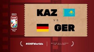 Highlights: KAZAKHSTAN vs GERMANY | 2021 #IIHFWorlds