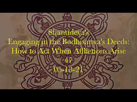47 Engaging in the Bodhisattva's Deeds: How to Act When Afflictions Arise 05-13-21