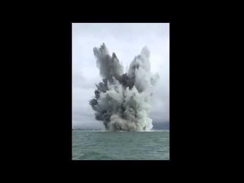 1,500lb German mine detonation