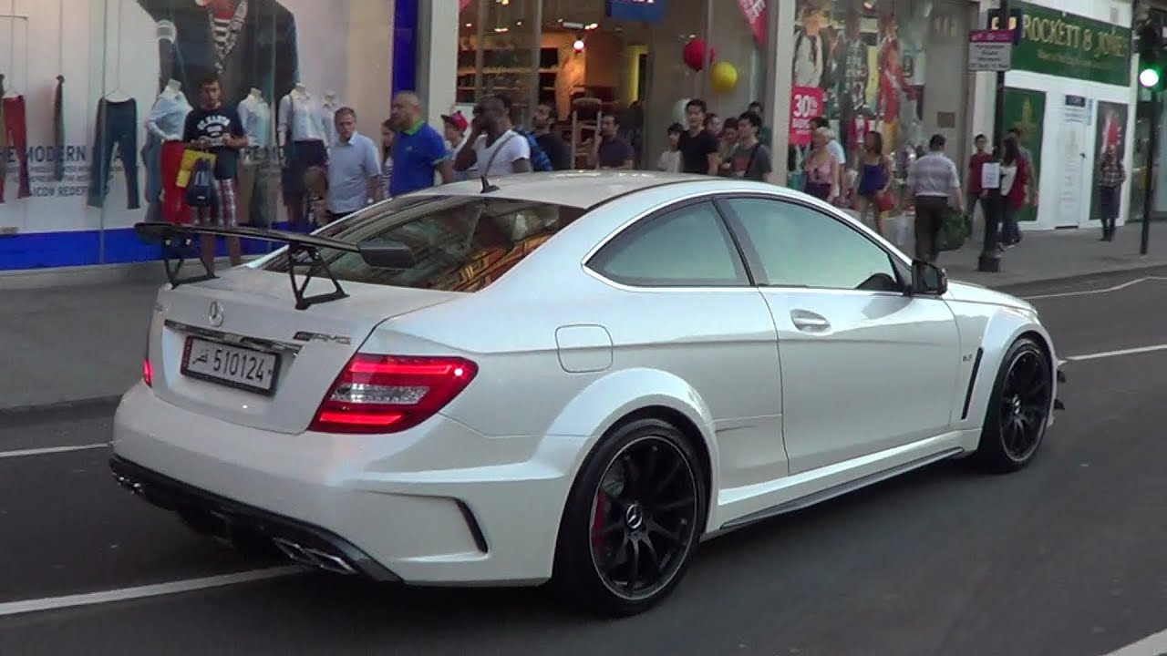 white arab c63 amg black series hits london - Mercedes Benz C63 Amg Black Series White