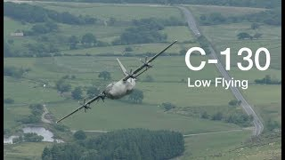 Low flying C-130 Hercules : What A Badass !