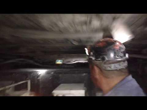 Riding a diesel mantrip thru a coal mine