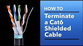 Terminating Cat6 Shielded Cable with a Standard RJ45 Connector: Detailed tutorial