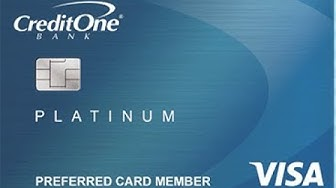CreditOne Visa Platinum Credit Card Review. (Bad Credit ok)