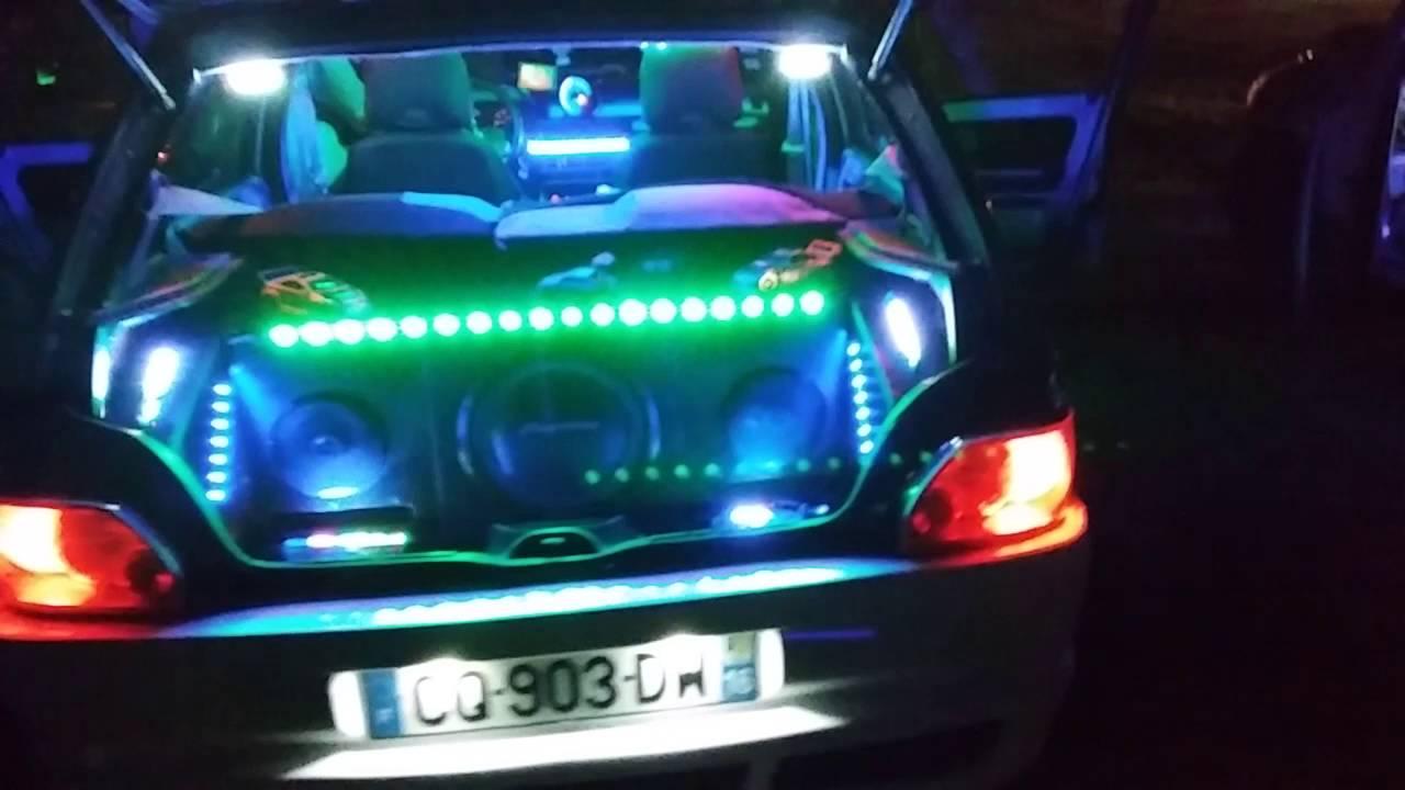 Clio 1 Tuning Show Neon Ma Voiture Week End Mecanique St Front De Pardou 24 Youtube
