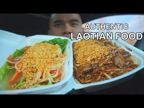 First time eating  AUTHENTIC LAOTIAN FOOD *Mukbang