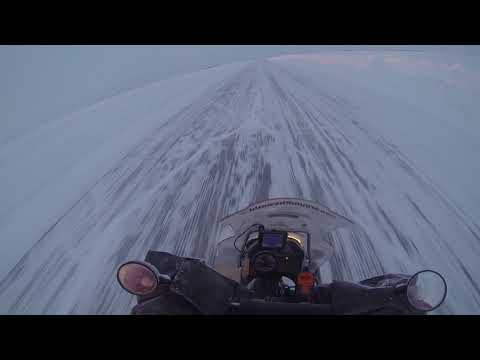 On the ice road to Tuktoyaktuk on GS1200ADV