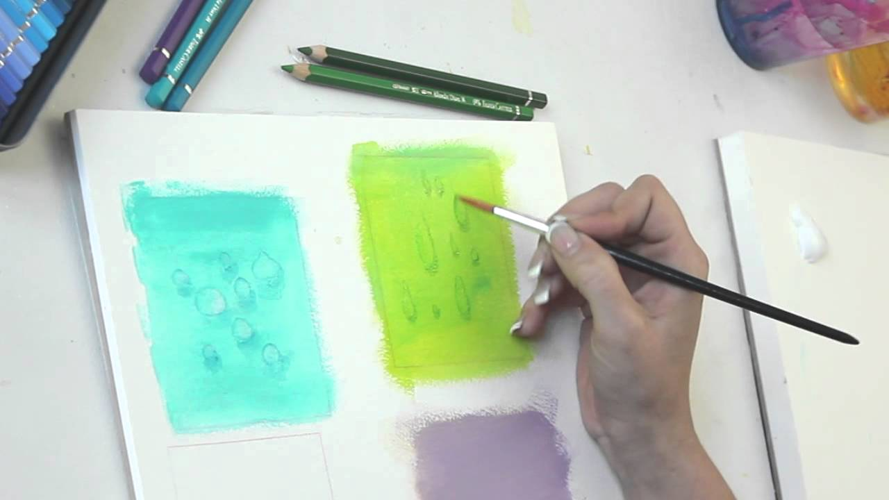 wassertropfen in acryl mit aquarellstiften tutorial malen lernen by zacher finet youtube. Black Bedroom Furniture Sets. Home Design Ideas