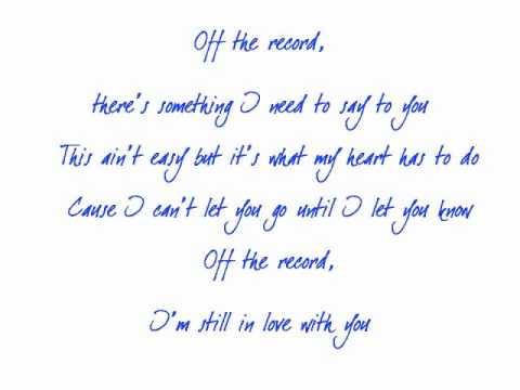 Off The Record Lyrics - Aaron Watson