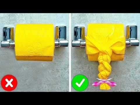 32 TRUCOS DE PAPEL DE BAÑO IMPRESIONANTES || Ideas de origami y consejos para el hogar