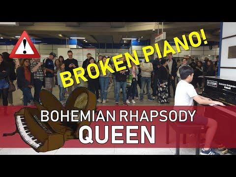 Playing Bohemian Rhapsody On A BROKEN PIANO!! Cole Lam
