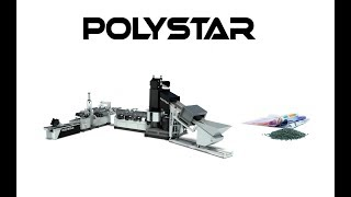 Two stage plastic recycling machine (Polystar Taiwan)