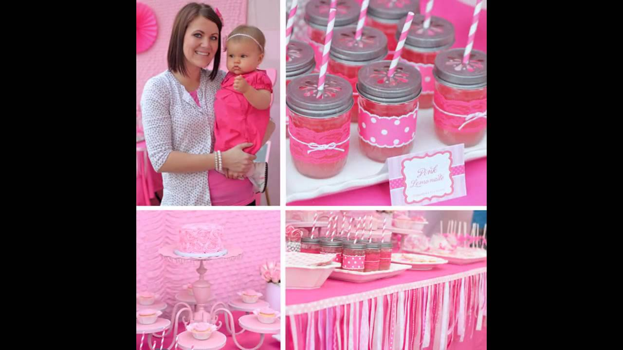 Stunning First birthday party decorations for girls YouTube