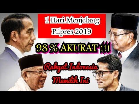 Ramalan Pilpres 2019 - 1 Hari Jelang Pemilu 98% Akurat