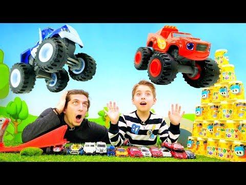 Супер трамплин для Вспыша и Чудо Машинок. Игрушки для мальчиков.