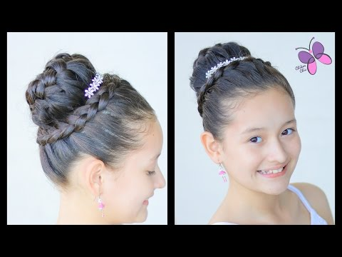 Braided Crown Elegant Hairstyles for Girls