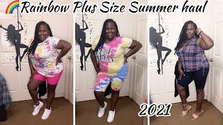 Comfortable Rainbow Plus Size Summer Haul