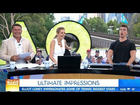 Hilarious tennis player impressions