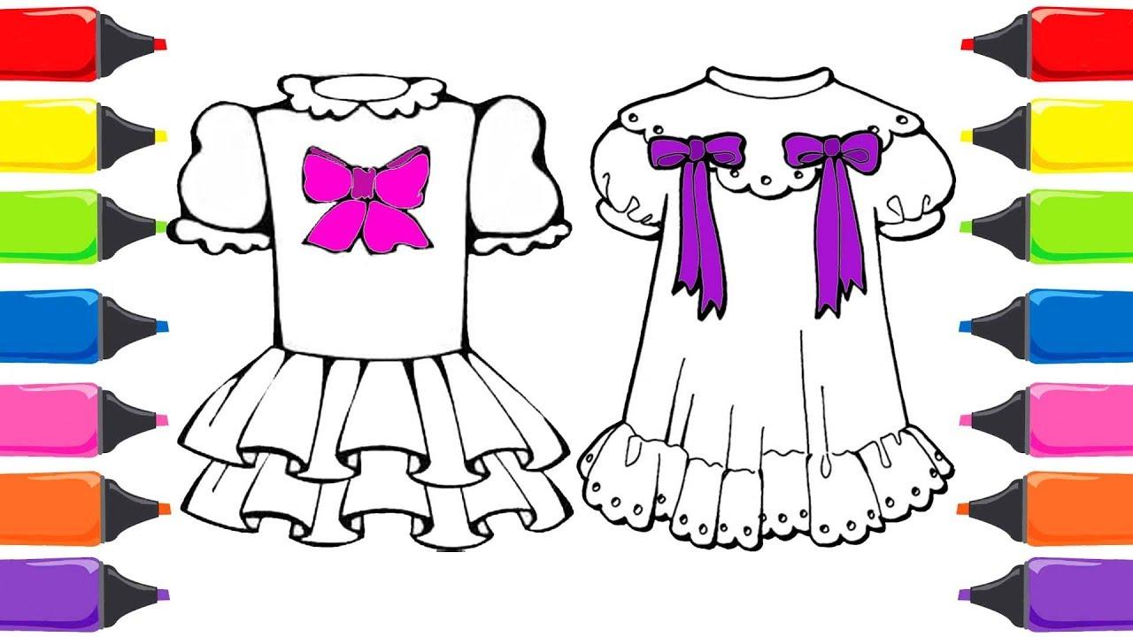 Barbie Bebek Elbisesi Boyama Renkleri öğreniyorum Boyama Sayfası