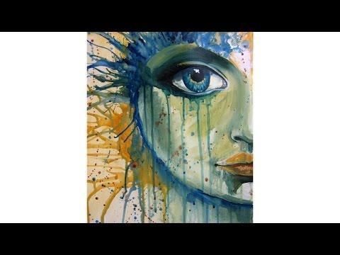 Beginner Acrylic learn To paint a Fantasy Face #CACFantasyArt