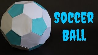 How To: Origami Soccer Ball Size 1 (Blue-White)