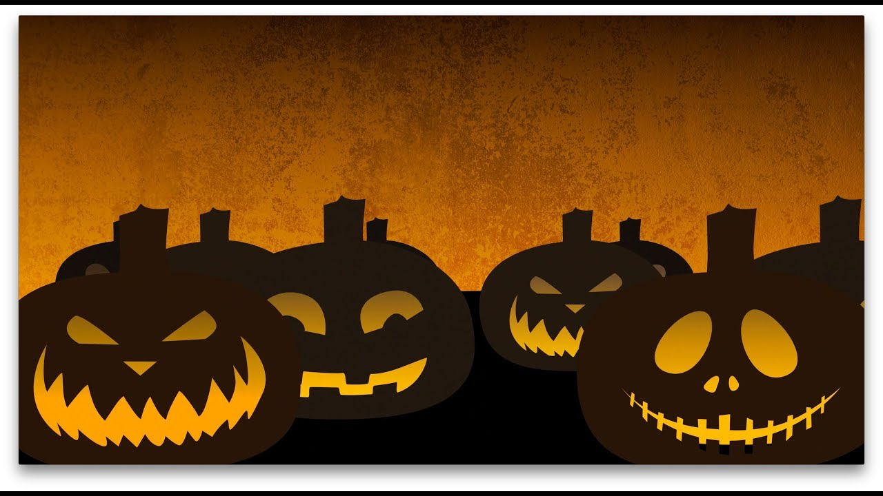 Looped Halloween Pumpkins Animated Background Free Stock Video