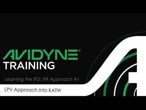 Avidyne IFD Approach #1 - GPS RNAV3 LPV Approach into KATW