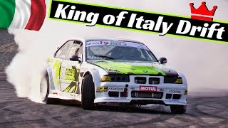 King of Italy Drift Super Cup 2018 - Final Round, Modena - LS3 Nissan S14, BMW M3 e36 Turbo & More!