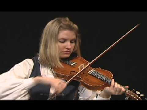 Rachel Nesvig playing the Hardanger Fiddle