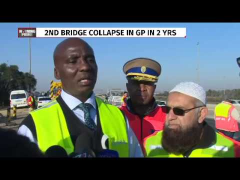 Minister Maswanganyi inspects N3 bridge collapse site