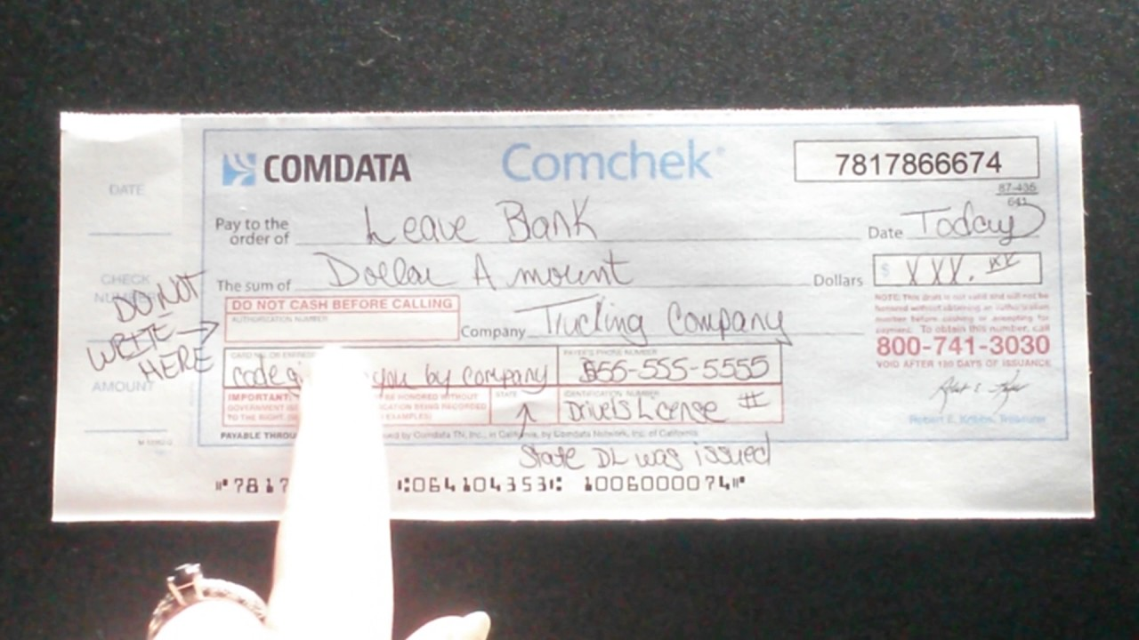 How to Complete a Comchek