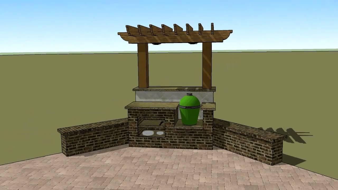 Barbecue Pergola Model Youtube