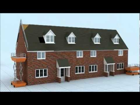 3D House Build Sequence CGI