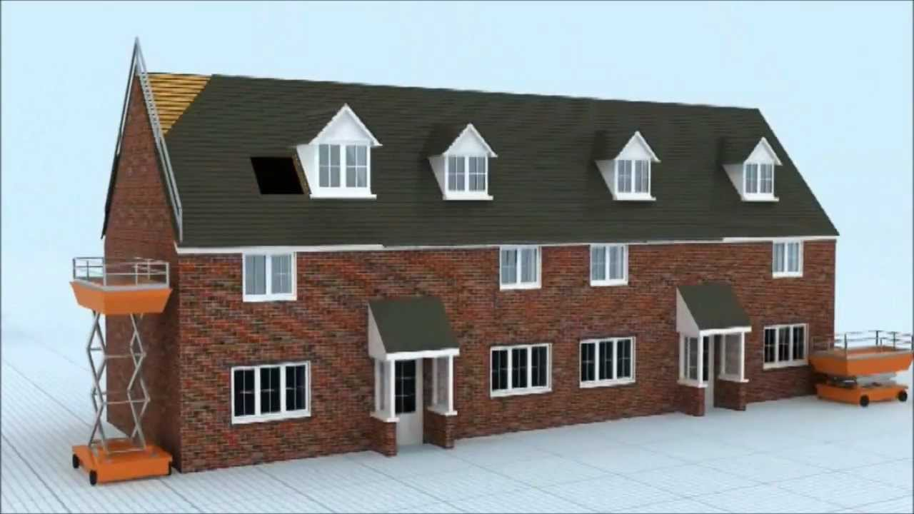 3d house build sequence cgi youtube for Order of building a house